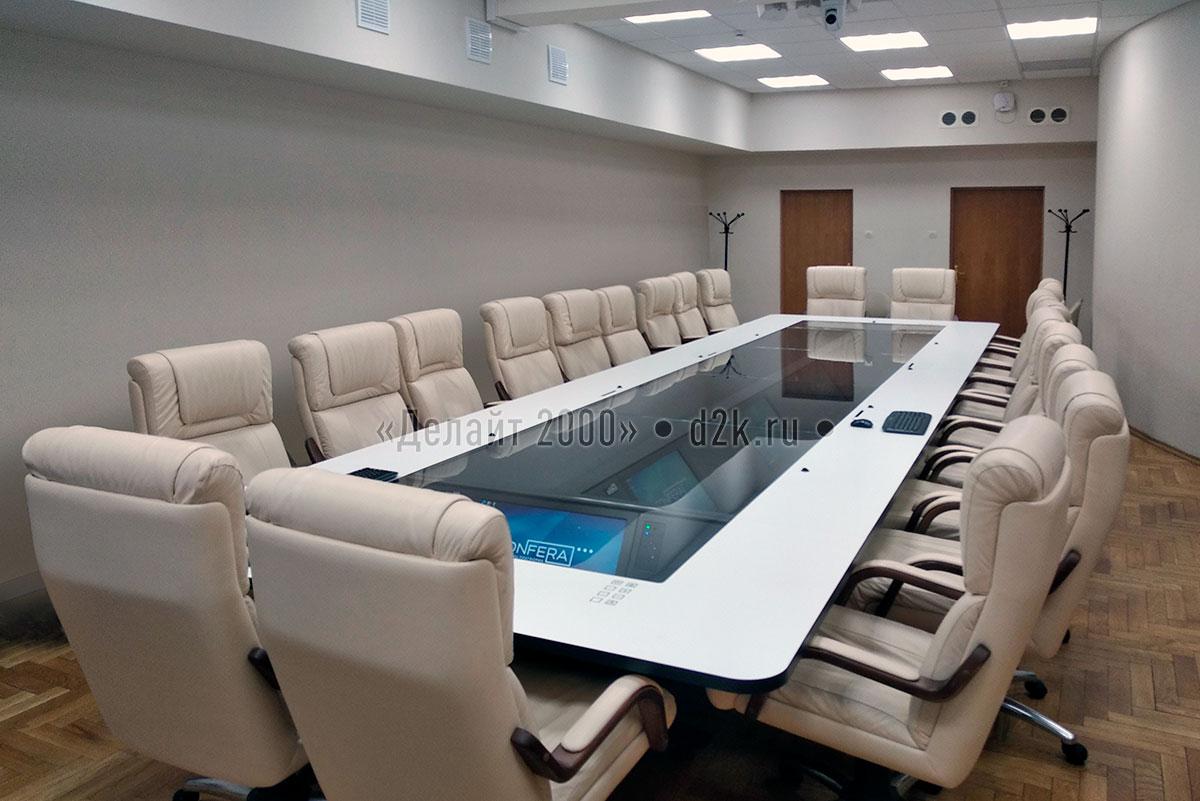Переговорная комната c системой конференцсвязи, офис Tetra Pak, проект Делайт 2000